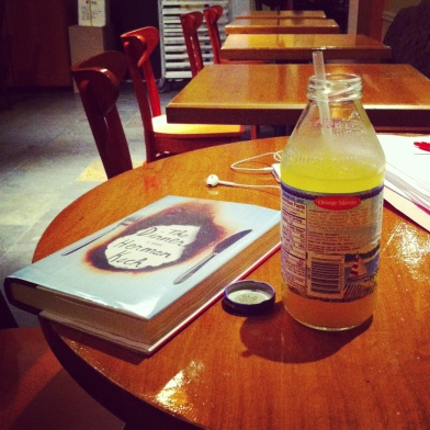 Sipping while reading at Cosi Photo credit: nishaksquared