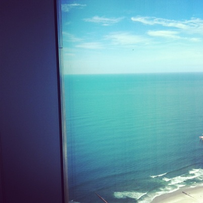 The top-floor view from the fabulous room me and my hubby stayed in at Revel, Atlantic City Photo credit: nishaksquared