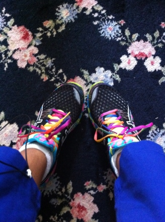 An everyday, color-filled touch of whimsy to my workout. Photo credit: nishaksquared