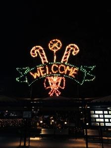 A bright greeting at Hersheypark.  Photo credit: nishaksquared