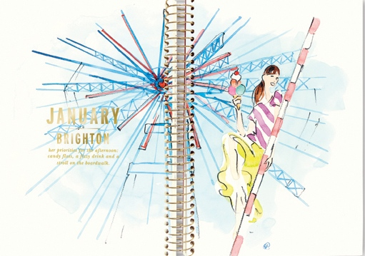 From the Kate Spade New York 2014 Desktop Calendar