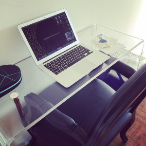 My new #workspace. Photo credit: nishaksquared.
