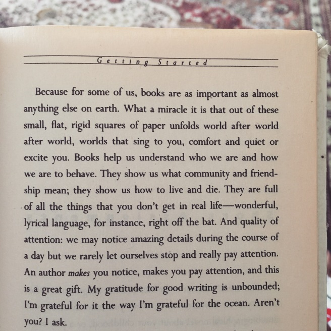 Genius reminder from Anne Lamott in her book Bird by Bird.